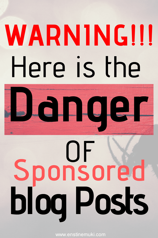 Do you accept sponsored posts to make money on your blog? That is ok but here is the danger you may not know. Serious Warning