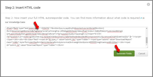 light box paste html form
