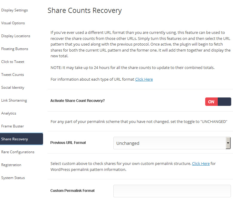 How to recover social share counts