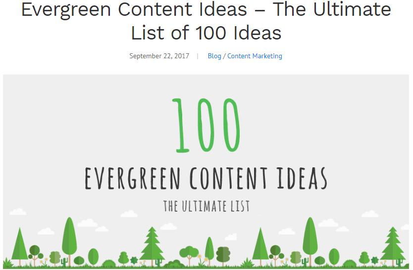 evergreen blogging ideas