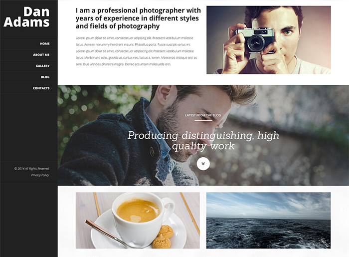 design and photography WordPress Themes