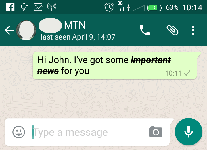 how to format whatsapp text