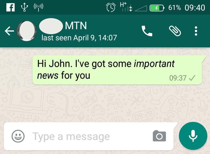 italicize whatsapp text