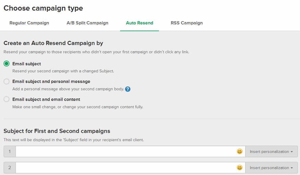 mailerlite email marketing auto resend
