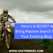 increase search traffic to old content