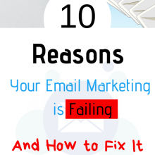 reasons why your email marketing is failing