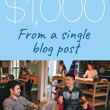 how I made 1000 from a single blog post