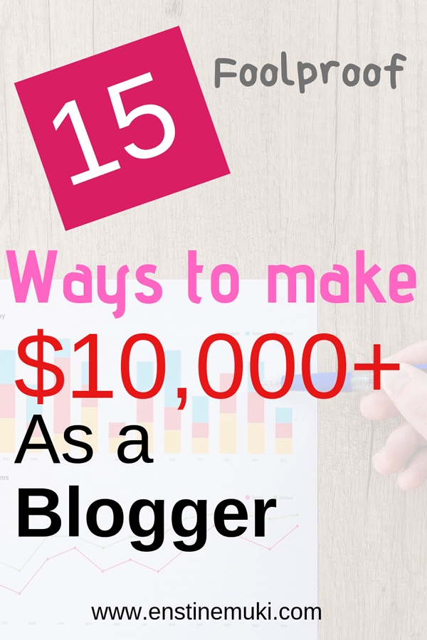 foolproof ways to make money as a blogger
