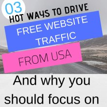 drive traffic from united states of A