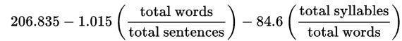 Flesch-Kincaid readability formula