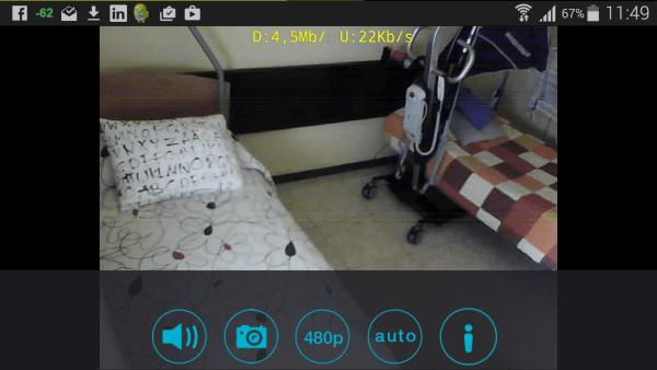 Camara IP habitacion color