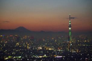 Mt.Fuji and Tokyo Sky Tree