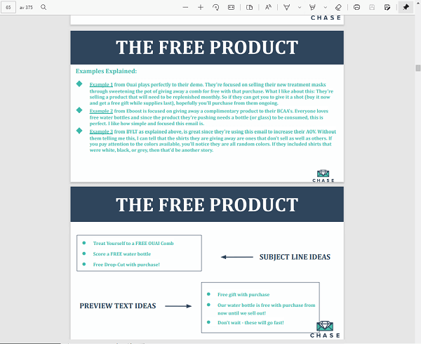 The free product Ensure Growth