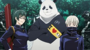 真希、パンダ、狗巻の3人