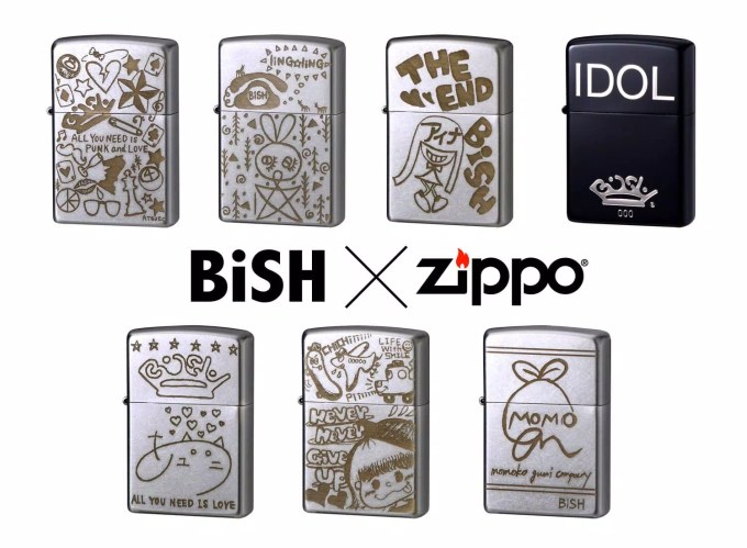 BiSHオリジナルZippoライター全7種類