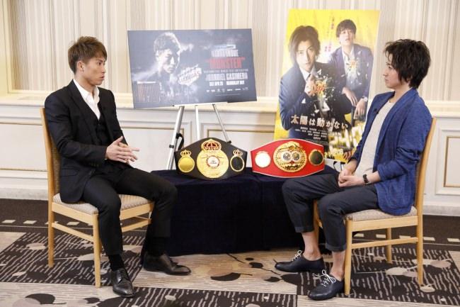 世界王者・井上尚弥と俳優・藤原竜也がWOWOWコラボ企画で初対談!ボクシングと演劇の共通点について語る!