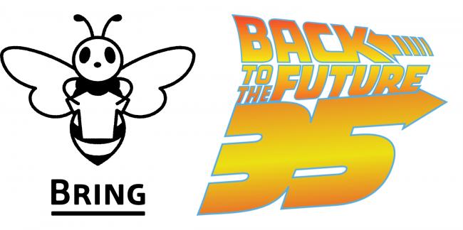 『バック・トゥ・ザ・フューチャー』公開35周年を記念して、限定デザインのBRING Tシャツを期間限定で販売します。