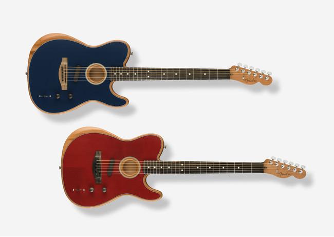 アコースティックとエレキが融合した次世代ギター AMERICAN ACOUSTASONIC® TELECASTER® に新色「クリムゾンレッド」「スティールブルー」が登場!4月30日より国内販売を開始