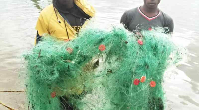 Arrested with illegal fishing gears
