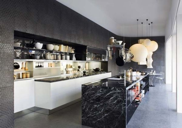cozinha com granito preto indiano