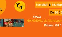 Inscriptions au stage de Pâques de handball et multisports