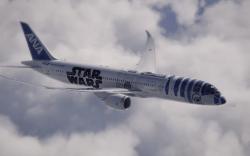 avión de all nippon inspirado en star wars