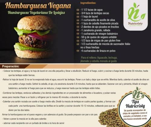 Receta de hamburguesa vegana