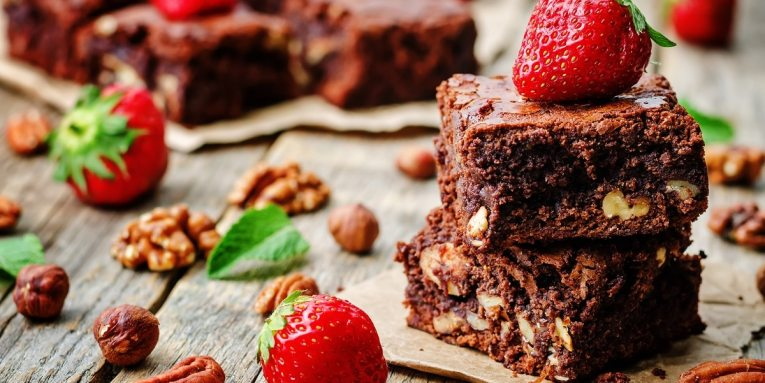 receta de brownies de camote