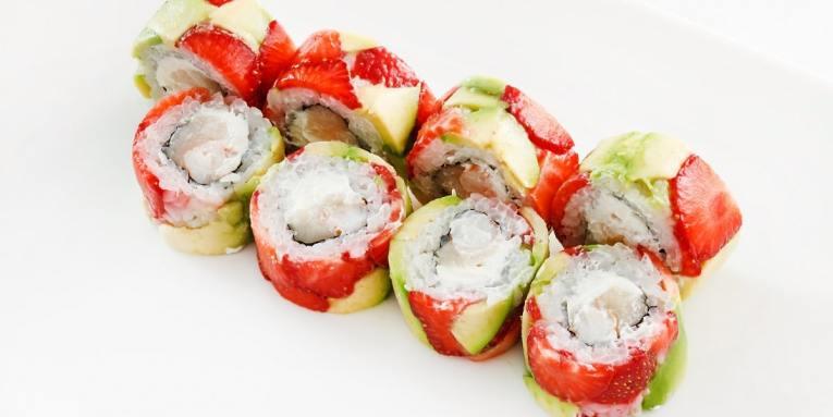 receta de sushi de frutas