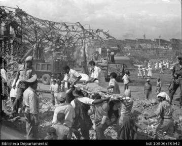 El 07 de Agosto de 1956 en Cali fue la explosión que causó un sismo de magnitud 4.3