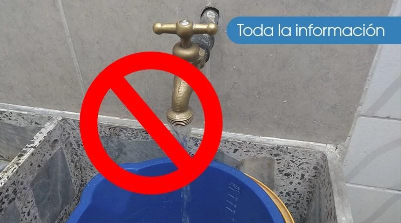 Por optimización de la red, No habrá agua en estos barrios y sectores 💧🚱🚽