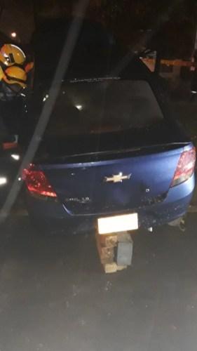Aparatoso accidente esta madrugada por conductor borracho - Mujer quedó atrapada (4)