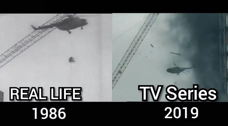 Chernobyl, imágenes de la serie vs imágenes reales