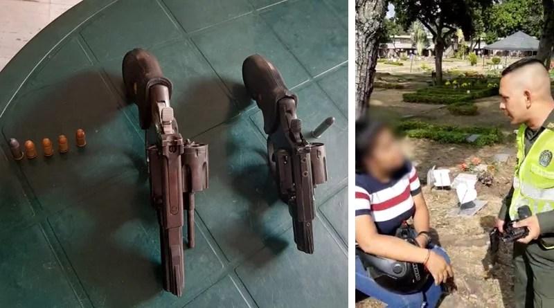 En el entierro del taxista asesinado, mujer fue capturada con dos armas