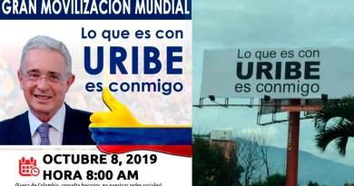 """""""Lo que es con Uribe es conmigo"""" la movilización que ha recibido mas burlas que apoyo"""