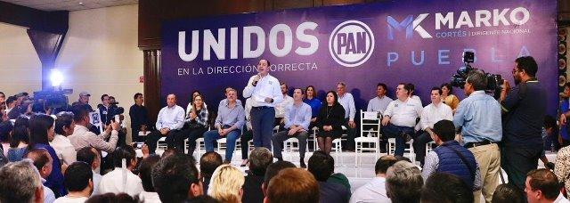 """MARKO CORTÉS DIJO QUE EL PAN DEBE DEFENDER EL RESULTADO EN PUEBLA DEBIDO A QUE DEBE HABER """"CONTRAPESOS"""" A NIVEL NACIONAL"""
