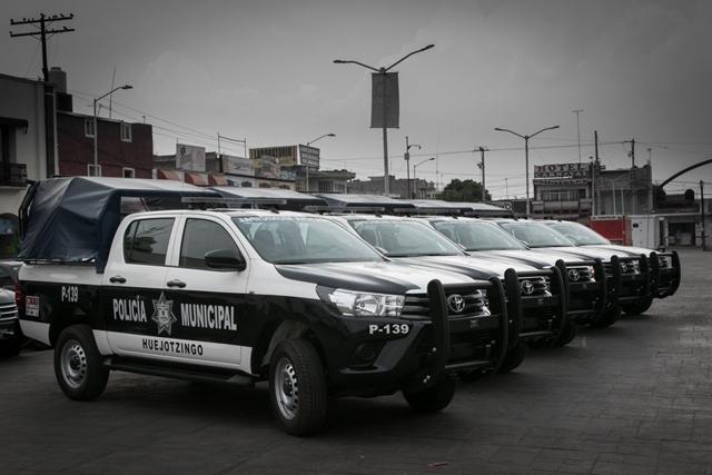 FORTALECIMIENTO DEL PARQUE VEHICULAR DE HUEJOTZINGO, DARÁ RESULTADOS A CORTO PLAZO EN MATERIA DE SEGURIDAD