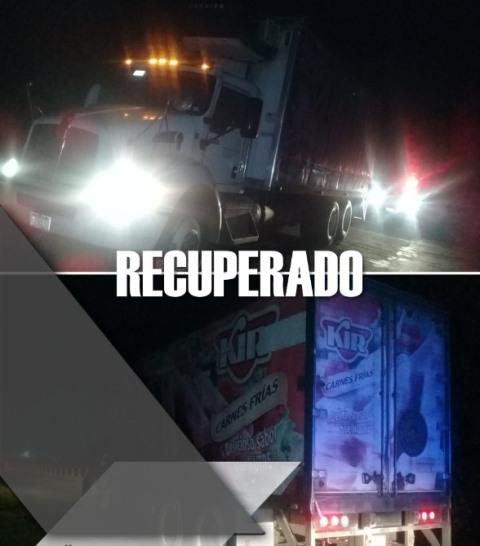 ELEMENTOS DE SEGURIDAD PÚBLICA MUNICIPAL DE HUEJOTZINGO RECUPERAN TRACTO CAMIÓN  FRENTE A LA EMPRESA CRISOL CON REPORTE DE ROBO