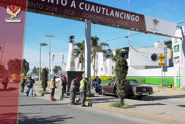 INTENSIFICA AYUNTAMIENTO DE CUAUTLANCINGO JORNADAS DE LIMPIEZA PERMANENTE