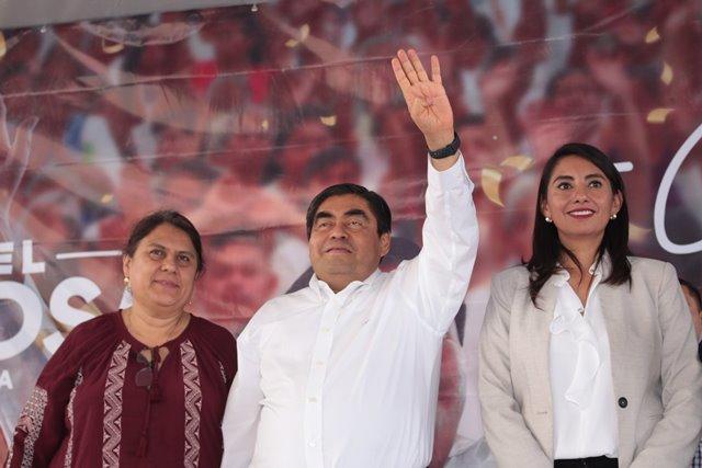 SOY UN HOMBRE AGRADECIDO Y NO LES VOY A FALLAR, AFIRMA MIGUEL BARBOSA DESDE HUEJOTZINGO