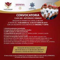 INVITA AYUNTAMIENTO DE CUAUTLANCINGO A JÓVENES A TRAMITAR CARTILLA MILITAR NACIONAL