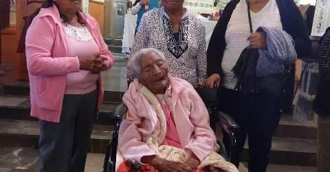 CELERINA MORALES MUÑOZ CUMPLE 100 AÑOS DE VIDA EN SANTA RITA TLAHUAPAN