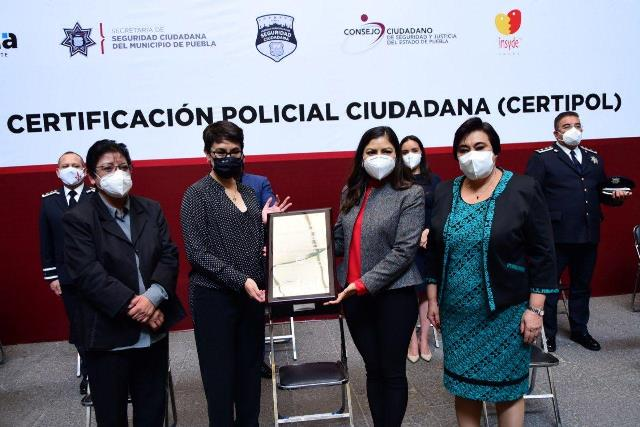 CON CERTIFICACIÓN NACIONAL, AYUNTAMIENTO DE PUEBLA OPTIMIZA SU CUERPO POLICIAL