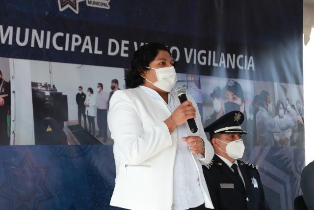 INAUGURA KARINA PÉREZ EL SISTEMA MUNICIPAL DE VIDEOVIGILANCIA DE SAN ANDRÉS CHOLULA