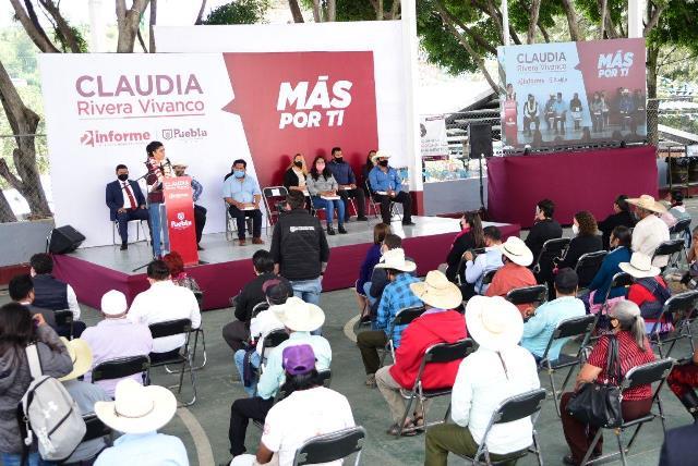 INICIA CLAUDIA RIVERA VIVANCO GIRA EN JUNTAS AUXILIARES PARA RENDIR SEGUNDO INFORME DE GOBIERNO