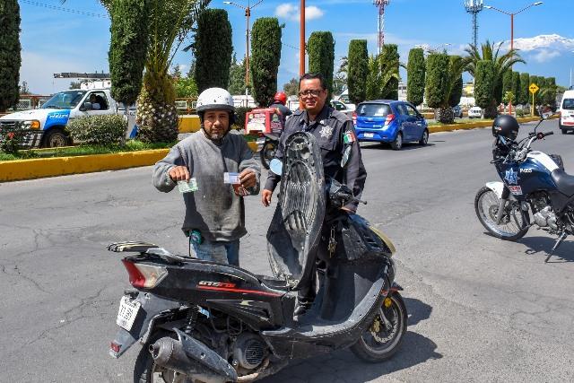 TRÁNSITO MUNICIPAL DE SAN MARTÍN TEXMELUCAN CONTINÚA CON OPERATIVOS DE CASCO SEGURO Y PROGRAMA MULTA CERO