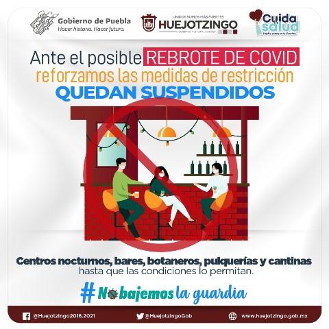 ANTE ALZA DE CONTAGIOS COVID EN EL ESTADO DE PUEBLA, AYUNTAMIENTO DE HUEJOTZINGO ROBUSTECE MEDIDAS SANITARIAS