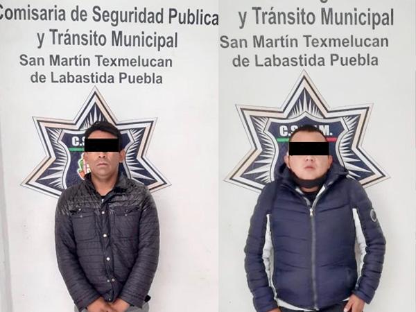 POLICÍA DE TEXMELUCAN RECUPERA CAMIÓN DE PRODUCTOS Y DETIENE A LOS PRESUNTOS RESPONSABLES DEL ROBO