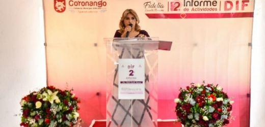 RINDE FIDELIA CUAUTLE SU 2º INFORME COMO PRESIDENTA DEL DIF DE CORONANGO