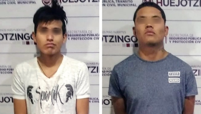 DETIENE POLICÍA MUNICIPAL DE HUEJOTZINGO A PRESUNTOS RESPONSABLES DE PORTACIÓN ILEGAL DE ARMA DE FUEGO